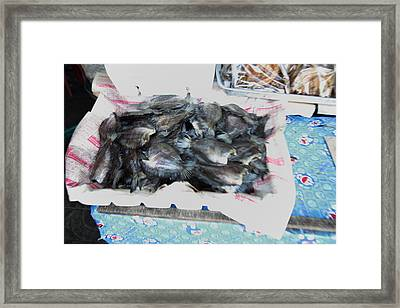Motion Blurred Street Markets - Bangkok Thailand - 01132 Framed Print by DC Photographer