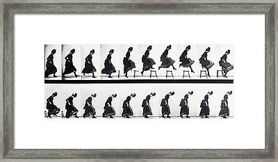 Motion Study Framed Print by Eadweard Muybridge