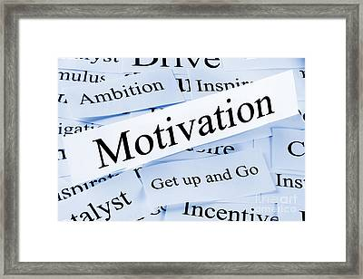 Motivation Concept Framed Print by Colin and Linda McKie