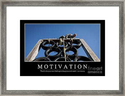 Motivation Inspirational Quote Framed Print by Stocktrek Images