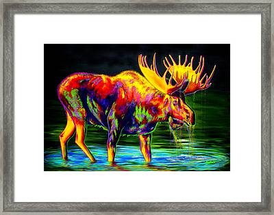 Motley Moose Framed Print by Teshia Art