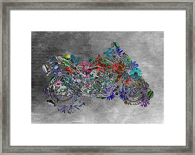 Moto Art  Floral Sp01bb Framed Print by Variance Collections