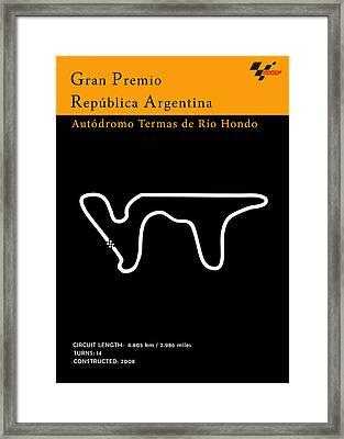 Moto Gp Argentina Framed Print