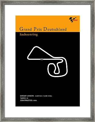 Moto Gp Germany Framed Print