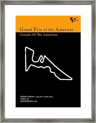 Moto Gp Of The Americas Framed Print by Mark Rogan