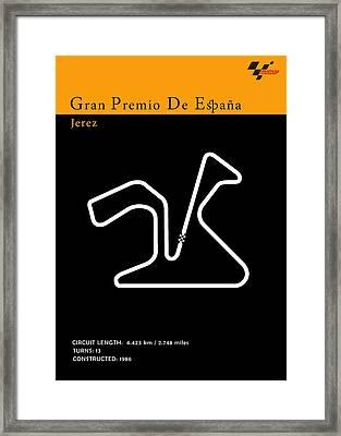 Moto Gp Spain Framed Print