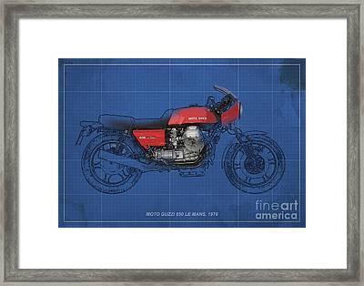 Moto Guzzi 850 Le Mans 1976 Framed Print by Pablo Franchi
