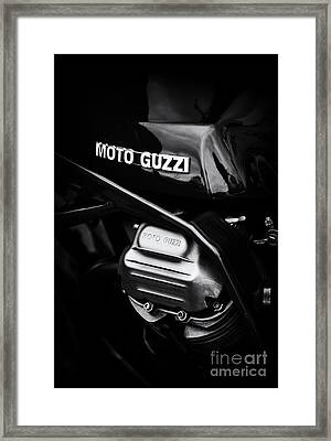 Moto Guzzi 850 Le Mans Monochrome Framed Print by Tim Gainey