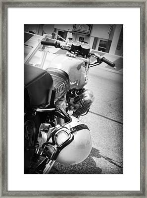 Moto Guzzi Helmet Framed Print by Kelly Hazel