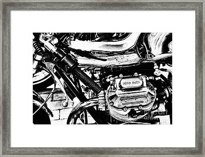 Moto Guzzi Le Mans Detail Framed Print by Tim Gainey