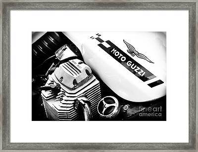 Moto Guzzi Le Mans Monochrome Framed Print by Tim Gainey