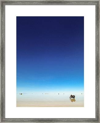 Moto On Salar Framed Print