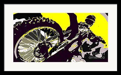 Wild Racers Digital Art Framed Prints