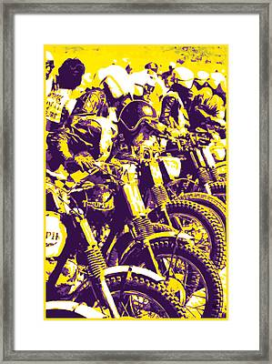 Motocross Race Framed Print by Gary Grayson