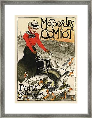Motocycles Comiot Framed Print