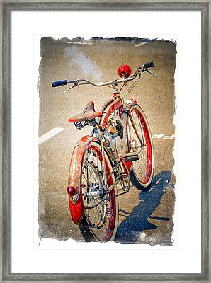 Framed Print featuring the photograph Motor Bike by Craig Perry-Ollila