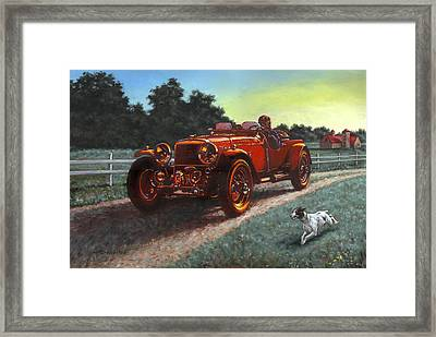 Motor Car Framed Print by Richard De Wolfe