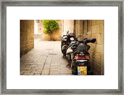 Motor In Blurr Framed Print by Aiden Kashi