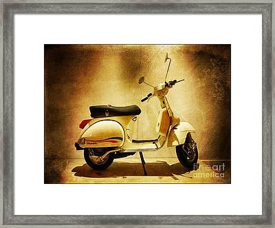 Motor Scooter Vespa Framed Print by Stefano Senise