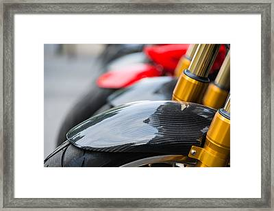 Motorbikes Framed Print