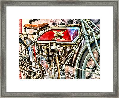 Motorcycle - 1914 Excelsior Auto Cycle Framed Print by Paul Ward