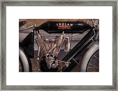 Motorcycle - An Oldie But A Goodie  Framed Print by Mike Savad