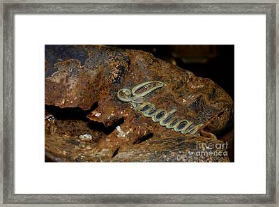 Framed Print featuring the photograph Motorcycle Axe Murderer by Wilma  Birdwell