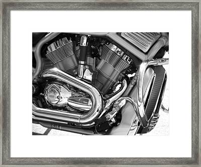 Motorcycle Close-up Bw 1 Framed Print