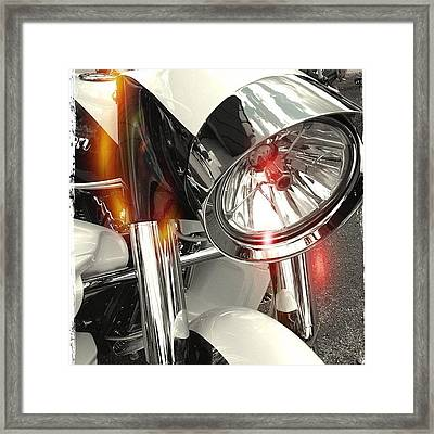 #motorcycle #motorcycles Framed Print by Mike Maher