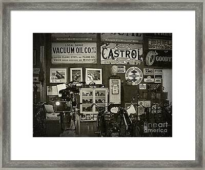 Motorcycle Museum - Oils - Old Signage Framed Print