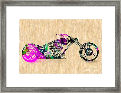 Motorcycle Painting Framed Print