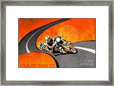 Motorcycle Racing Isle Of Man Framed Print