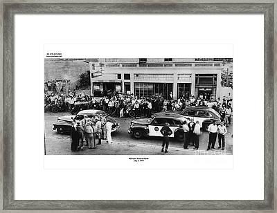 Motorcycle Rally Hollister California July 7, 1947 Framed Print by California Views Mr Pat Hathaway Archives