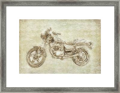 Motorcycle Framed Print by Ramona Murdock