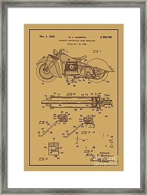 Motorcycle Stand Rust Framed Print