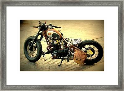 Motorcycle Statement Framed Print by Rosanne Jordan