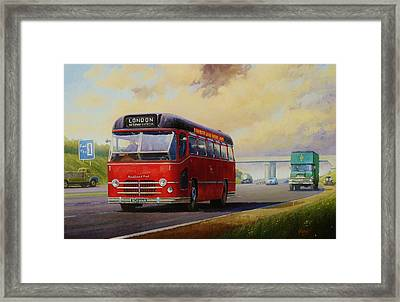 Motorway Express 1959. Framed Print by Mike  Jeffries