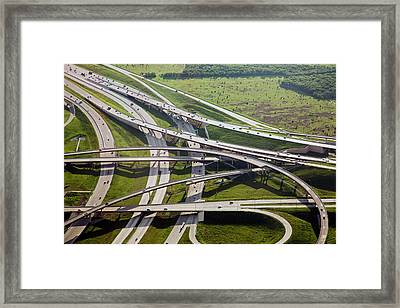 Motorway Junction Framed Print by Jim West