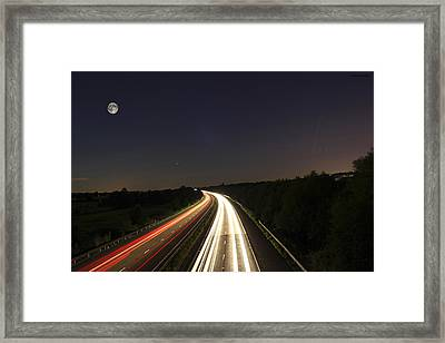 Motorway Light Trails Framed Print by Jay Harrison