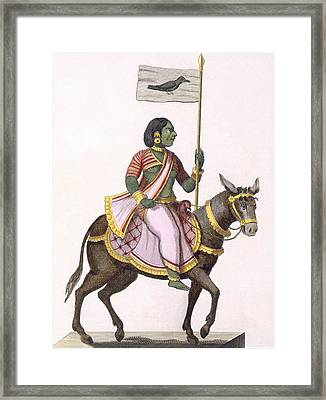 Moudevi, Goddess Of Discord And Misery Framed Print by Pierre Sonnerat