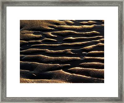 Framed Print featuring the photograph Moulded Sand by Suzy Piatt