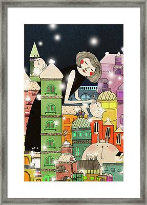 Mouldy City Framed Print