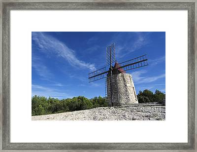 Moulin De Daudet.windmill Of Alphonse Daudet. Provence. France Framed Print by Bernard Jaubert