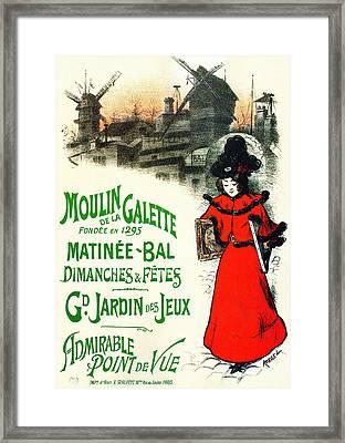 Moulin De La Galette Framed Print by Charlie Ross