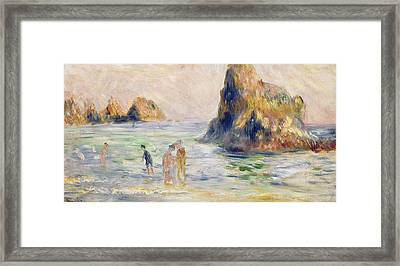 Moulin Huet Bay Guernsey Framed Print
