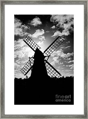 Moulin Noir- Monochrome Framed Print
