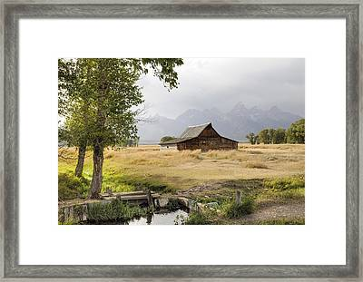 Moulton Barn At Mormon Row Framed Print by Geraldine Alexander