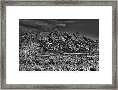 Moulton Barn Bw Framed Print