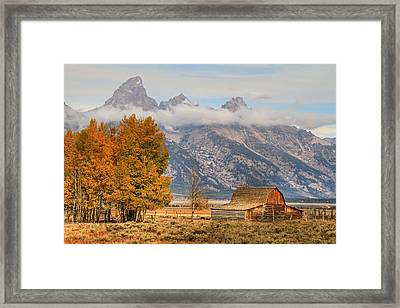 Moulton Barn - Grand Tetons Framed Print