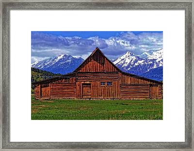 Moulton Barn In Spring Framed Print by Dan Sproul
